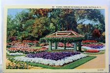 New York NY Buffalo Humboldt Park Floral Emblem Postcard Old Vintage Card View