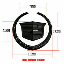 New 4 Inch Rear Tailgate For Cadillac Wreath Crest Truck Logo Emblem Black