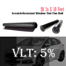 """Uncut Window Tint Film Shade 5%VLT 20"""" In x10' Ft for Chevrolet Cars CHEVY Glass"""