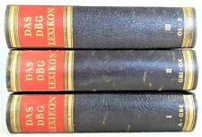 ? Das DBG Lexikon in 3 Bänden, Halbleder Ausgabe - Wissen pur Lexikon - 1957
