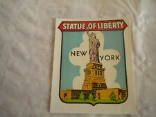 Vintage Luggage label Goldfarb novelty co Statue of liberty New york 1950s