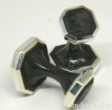 Men's DAVID YURMAN Forged Carbon 925 Sterling Silver Octogon Cufflink RETAIL$595