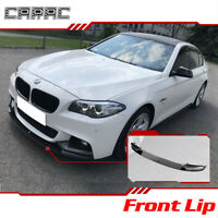 For 2011-2016 BMW F10 5 Series M Sport Front Bumper Chin Lip Carbon Fiber Style