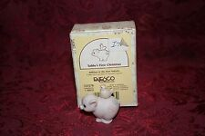 Precious Moments 1992 # 525278 Tubby's First Christmas Figurine W/ Box
