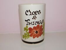 "BABBACOMBE POTTERY PHILIP LAURESTON HAND DECORATED ""MOPS & THINGS"" UTENSIL HOLDE"