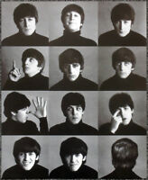 THE BEATLES POSTER PAGE . 1964 A HARD DAYS NIGHT ALBUM COVER PHOTOSHOOT . D23