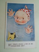 """Old Mabel Lucie Attwell PC """"WHO'S STUCK A PIN IN ME INDIARUBBER GEE?"""" 1936 §B535"""