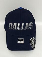 Nba Dallas Mavericks Adidas Structured Flex Fit Curve Brim Cap Hat Blue New