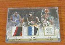 2004 Fleer Mystique Tracy McGrady, Allen Iverson, Paul Pierce Prime Patch 15/25
