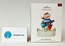 Hallmark Keepsake Ornament 2019 ~ Blue Christmas ~ Snowman w/ Light & Sound