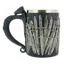 Medieval Sword Tankard Dragon Handle Gothic Celtic Cup Game Of Thrones Style