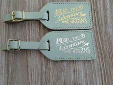 30 MINT GREEN bonded leather WEDDING escort Luggage Tags $2,15 each