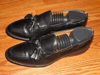 """ALLEN EDMONDS """"GRAYSON""""  Men's Tassel Loafers 8.5 B  Black  Leather"""