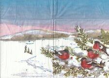2 Lunch Papier Servietten Napkins (HH9)  Vögel im Winter