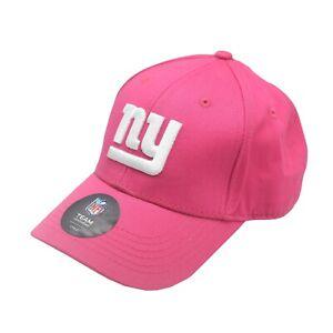 New York Giants Official NFL Kids Girls (4-6X) OSFM Adjustable Pink Hat Cap New