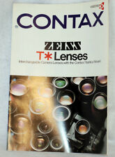 CONTAX Zeiss T* Lenses Interchangeable C/Y Lens Brochure / Poster by Kyocera