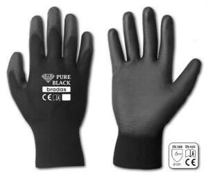 6 PAAR Gartenhandschuhe Größe 10 Herren Schwarz Handschuhe Arbeitshandschuhe