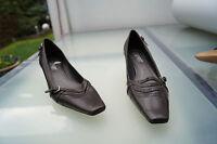 schicke ESPRIT Damen Schuhe Pumps Gr.41 leder braun wie Neu #1k