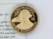 Gedenkprägung Präsidenten der USA George Washington Silber 999 veredelt PP