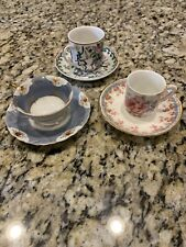 Vintage Lot Of Demitasse Cups An Saucers