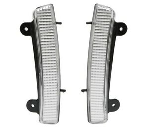 Aftermarket Clear Side Marker Bumper Lights Pair fits Nissan 350Z 02-05