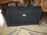 Pierre Cardin black canvas travel duffle bag gym shopper luggage school beach