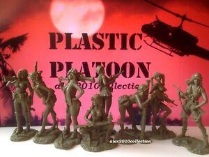 NEW!! PLASTIC PLATOON,VIETNAM WAR - PLAYBOY GIRLS, 8 rubber soldiers 1:32