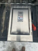 Siemens HNF362S Stainless Steel Heavy Duty Safety Switch 60A 3P 600V Non-Fusible