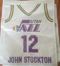 john stockton MINI banner jersey retirement utah jazz nba hof hall of fame promo