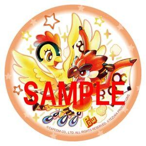 Pre-order CAPCOM VS. Tezuka Osamu CHARACTERS Ceramic Coaster LioleusVSFirebird