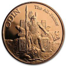 Norse Gods Series Odin - Valkyrie 1 oz .999 Copper BU Round US Made Bullion Coin