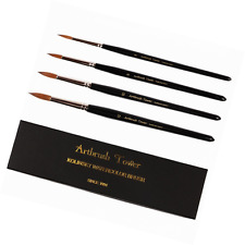 Kolinsky Watercolor Painting Brush,Round Red Sable with Black Gift Box,Perfect 4