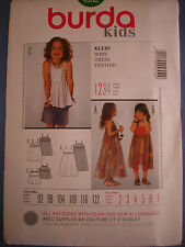 Burda niños 9552 Tamaños Vestido de patrón de costura europea de 92 - 122