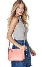 NWT Guess Gia Top zip Crossbody purse Handbag Coral Pink