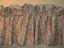 LAURA ASHLEY Blouson Valance Quartet Sycamore pink blue yellow Floral EUC