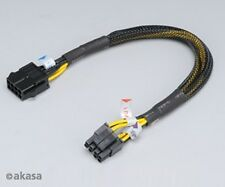 Akasa 8 Pin to 2 x 4Pin PSU extension Cable