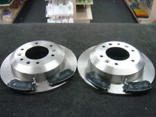Rear Delphi Brake Pads Brake Discs Full Axle Set 324mm Solid Fits Kia Sedona