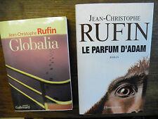 Jean-Christophe Rufin Le parfum d'Adam + Globalia Lot de 2 livres