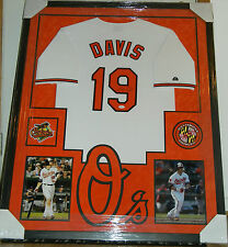 CHRIS DAVIS SIGNED JERSEY FRAMED SUEDE MATTING JSA COA BALTIMORE ORIOLES