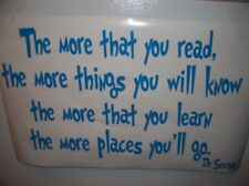 Vinyl wall word decal quote the more you read  Dr Seuss Children suess school