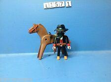 (L157.1) playmobil bandit à cheval