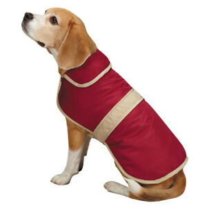 Casual Canine Dog Barn Coat w/ Contrast Trim Jacket Pet Winter fleece lining