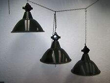 Large Old Art Deco Factory Lamp Workshop Light Enamel Loft Mint