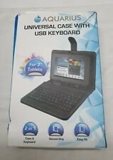 Aquarius Universal Case With USB Keyboard. For 7 inch tablets. Boxed
