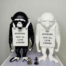 Modern Art Banksy Monkey Street Monkey Statue Creative Grafitti Home Decor Gifts
