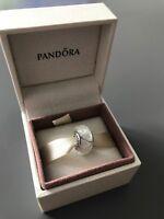White Looking Glass Genuine PANDORA murano charm