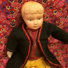 Vintage Boy Doll Karl Standfuss Juno Celluloid Head Cloth Germany 20s 30s