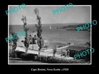 OLD 8x6 HISTORIC PHOTO OF CAPE BRETON NOVA SCOTIA CANADA c1920s
