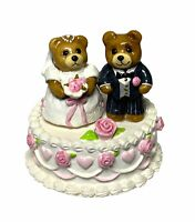 Wee Forest Folk: WEDDING BEARS, Cake, 1987,  W/Box, T-09
