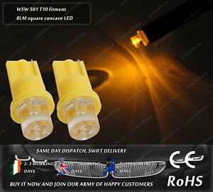 LED T10 W5W 501 Wedge Yellow Orange Interior Bulbs Dashboard Speedo Lights 12v